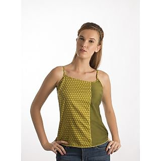Co.In Green Classy Printed Women Casual Top