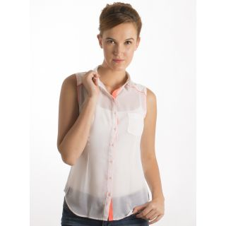 Co.In White Solid Women Casual Top