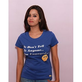Texco Classy Blue Graphic T-Shirt