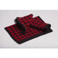Aransa Polka Dot Red Hand Towels, Set Of 3