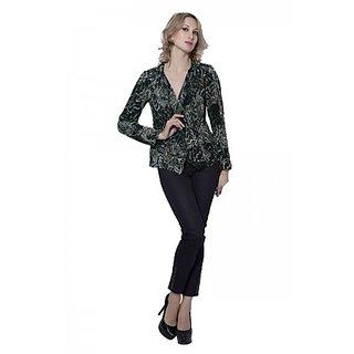 Trendy Divva EX-93 Green & Black Shirt