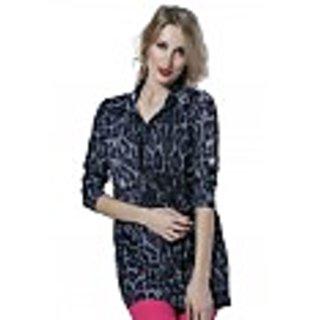 Trendy Divva WC-SHF110 Black Print Shirt