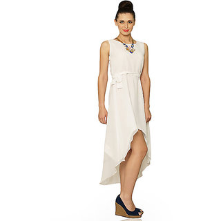 Night And Sway High-Low Dress In White