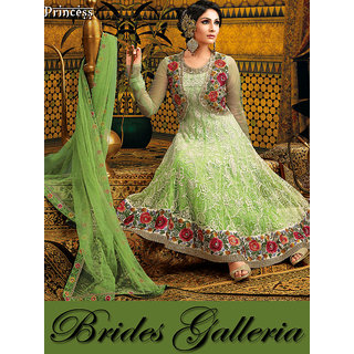 Shaded Lime Green Anarkali Dress Materia