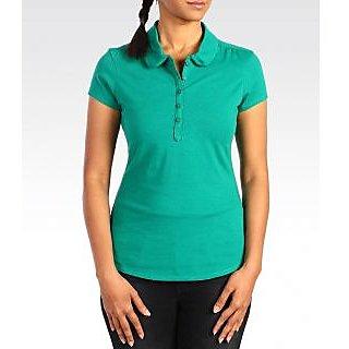 Levi's Women's Green CLASSIC POLO