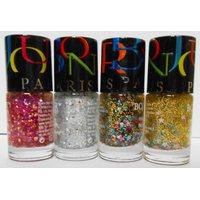 New Bonjour Paris Noveau Glitter Nail Polish (set Of 4)-Select Any One Set - 4693274