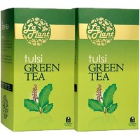 LaPlant Tulsi Green Tea - 50 Tea Bags (Combo Of 2)