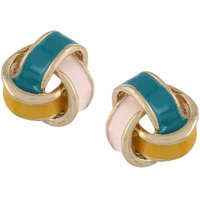 Fayon Daily Casual Work Multicolour Intertwining Stud Earrings