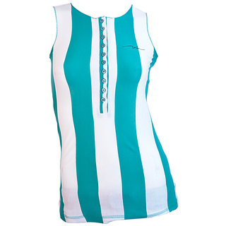 Integriti Galz Green With White Stripe T-shirt