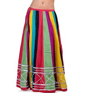 Jaipuri Multi Color Pure Cotton Lehanga Skirt 283