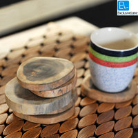 ExclusiveLane Fine Tree Cut Wooden Coasters Set Of 6