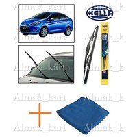 Hella Wipers For Ford Fiesta Set Of 2 22 16 + Microfiber Clothes