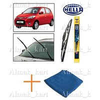 Hella Wipers For Hyundai I10 Set Of 2 22 16 + Microfiber Clothes