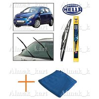 Hella Wipers For Hyundai I20 Set Of 2 24 16 + Microfiber Clothes