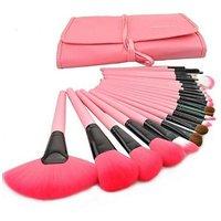 24Pcs Professional Wool Cosmetic Makeup Brush Set Kit Brushes&Tools Make Up Case