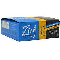 Zing Nutrition Bar Chocolate Coconut Box Zing Bars 12 Bars Box