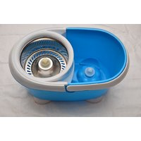 360 Degree Magic Spin Mop With Stainless Steel Bucket For Easy & Fast Cleaning