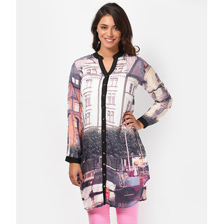 LOVE FROM INDIA - PRINTED TUNIC FOR WOMEN_buy One Tunic Get One Scraf Free