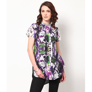 LOVE FROM INDIA  PRINTED SHIRT STYLE TUNIC _buy One Tunic Get One Scraf Free