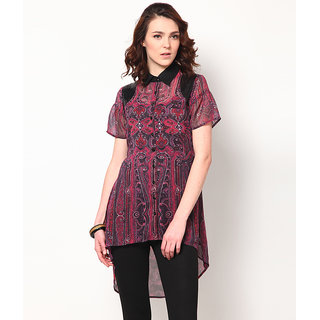 LOVE FROM INDIA  PRINTED LONG TUNIC _buy One Tunic Get One Scraf Free - 5153768