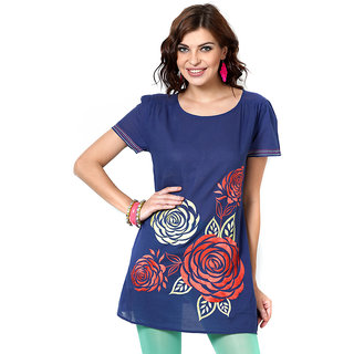 LOVE FROM INDIA  SOLID LONG TUNIC _buy One Tunic Get One Scraf Free