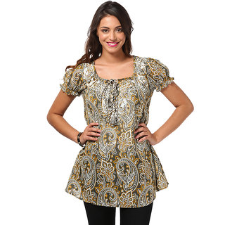 LOVE FROM INDIA  PRINTED SHORT TUNIC _buy One Tunic Get One Scraf Free - 5166206