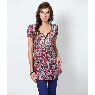 LOVE FROM INDIA  PRINTED SHORT TUNIC _buy One Tunic Get One Scraf Free