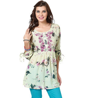 LOVE FROM INDIA  FLORAL PRINTED TUNIC _buy One Tunic Get One Scraf Free - 5171790