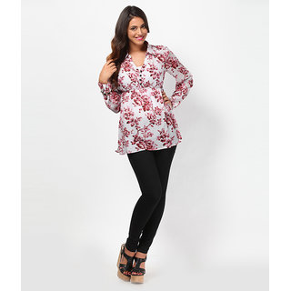LOVE FROM INDIA  FLORAL PRINTED TUNIC _buy One Tunic Get One Scraf Free