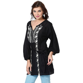 LOVE FROM INDIA  SOLID BEACHWEAR TUNIC _buy One Tunic Get One Scraf Free