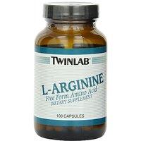 Twinlab L-Arginine 500mg, 100 Capsules (Pack Of 3)