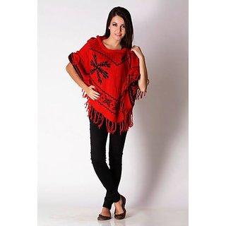 Ladies Western Cotton Crossiya Top Red And Black
