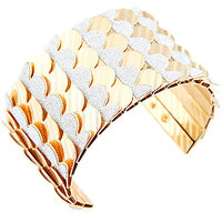 Young & Forever  Punk Style Silver Glitter Cuff Bracelet For Women