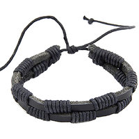 Young & Forever  Leo Black Leather Unisex Bracelet For Women By CrazeeMania