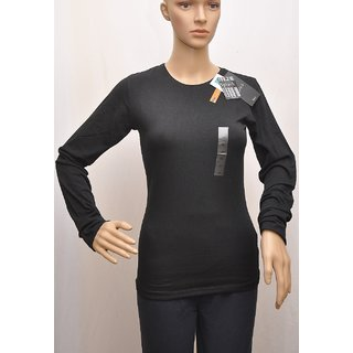 "T Shirt Womens Splash Full Sleeve Black Colour Size""M"" (12) SKU  UCTSL011"