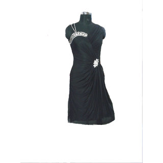 Beautiful Lycra Indo Western Dress Black
