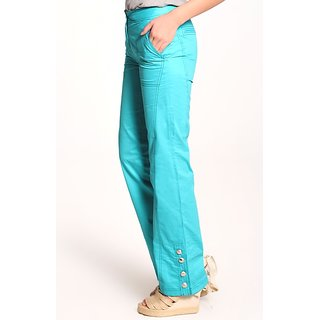 Casual Wear Stylist Blue Long Pant With Bottons Designs..low Price Hurry....