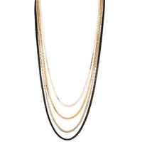 Young & Forever Multilayer Chain Necklace For Women By CrazeeMania