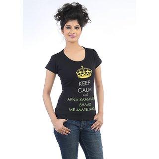 Teestadka Womens Apna Kaam Banta 1037 L Black