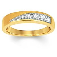 Pure Gold Jewellers 18kt Yellow Gold Ring For Her With 5pcs Of 0.18cts Diamonds