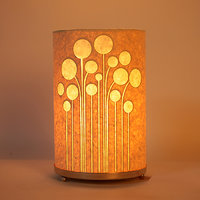 Craftter Round Abstract Rounds Textured Yellow Table Lamp