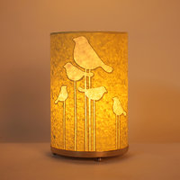 Craftter Round Abstract Bird Light Green Table Lamp