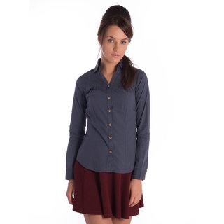 Bombay High Cotton Grey Full Sleeves Slim Shirt