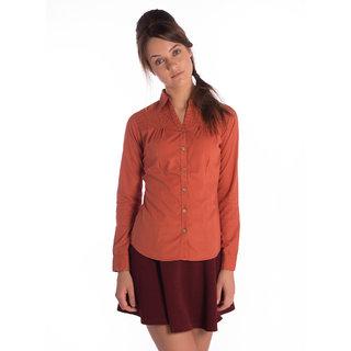 Bombay High Cotton Rust Slim Shirt