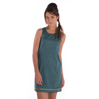 Co.In Cotton Green Comfort Fit Dress