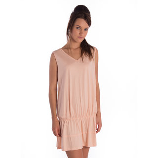 Bombay High Cotton Pale Peach Comfort Fit Dress