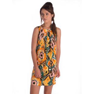 Co.In Cotton Orange Regular Dress