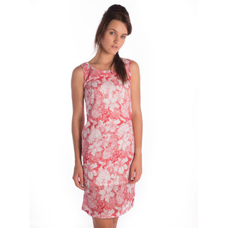 Bombay High Cotton Red Rd Slim Dress