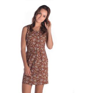 Bombay High Cotton Brown Sleeveless Slim Shirt