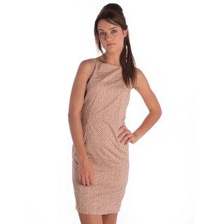 Bombay High Cotton Brown Slim Dress